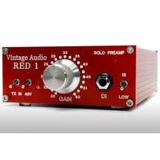 VINTAGE AUDIO RED SOLO PREAMP, DESKTOP BOUTIQUE PREAMP!